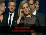 Adele Grammy Awards 2012 album of the year acceptance speech HD 54th Grammys