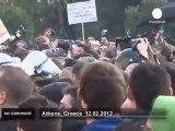 Echauffourées entre les manifestants... - no comment