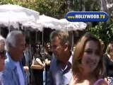 Pat Sajak Has Lunch At The Ivy Saturday Afternoon