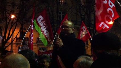Manifestation de soutien à la Grèce, Place de l'Uruguay à Paris