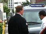 Stranger Smacks into Arnold Schwarzenegger