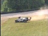 CART Elkhart Lake 1996 Huge crash Johnstone + Al Unser Jr blow up