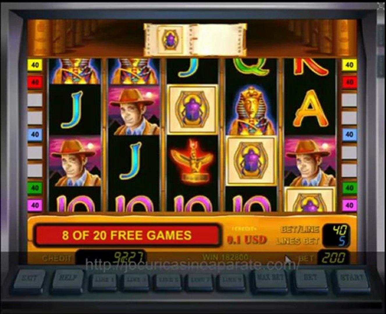 Câștigați acum premii mari cu Book of Ra casino aparate gratis!