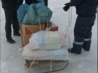Ships trapped in frozen Azov Sea
