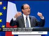 Présidentielle : François Hollande donne son deuxième grand meeting de campagne à Rouen