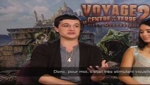 Interview exclusive Vanessa Hudgens et Josh Hutcherson - Voyage au centre de la terre 2