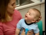 8 Month Old Deaf Babys Reaction To Cochlear Implant Being Activated !