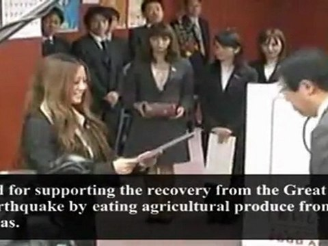 """Japanese Gov't Appointed 9 College Beauty Queens as """"Eat and Support Student Ambassadors"""" (Feb. 15, 2012)"""