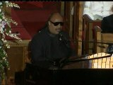 Stevie Wonder plays emotional song for Whitney Houston