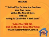 Rent to Own Houses- What Is A Rent to Own House