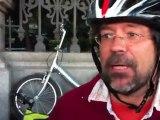 Ciclistas de los sindicatos detenidos por la policía en Atocha - Huelga General 29S