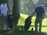 Tony Romo and Joe Simpson Play Golf in Studio City
