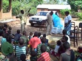 Malawi, Mulanje District, Chambe: Bednet distributions