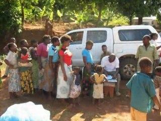 Malawi, Mulanje District, Milonde and Bondo: Bednet distributions