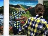 Peinture sur tableau en stop motion