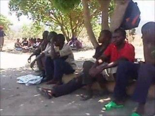Zambia, Chikumbi: Bednet distribution