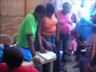 Haiti, Port-au-Prince: Bednet distribution