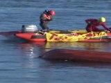 TELETHON 2011 : Sauvetage aquatique par les pompiers SAV de Ouistreham (Calvados-14)