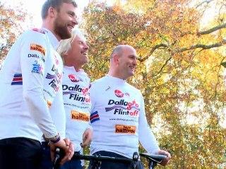 CRUK | Cycle Slam 2012 | Lawrence Dallaglio and Freddie Flintoff