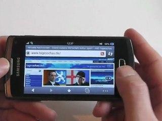 Samsung Wave 3 Internet Test / Review HD Deutsch / German S8600