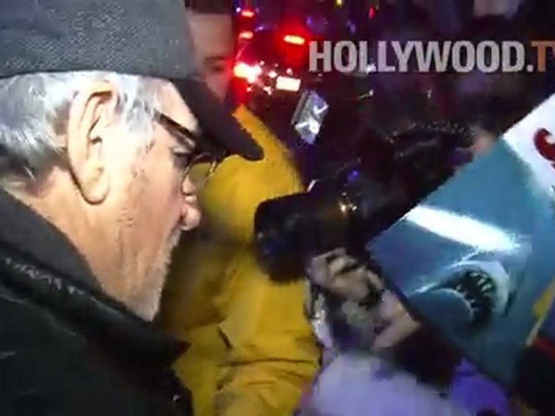 Steven Spielberg, Anthony Kiedis, Jack Black, Ben McKenzie at LA Lakers game
