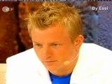 Kimi Räikkönen at Wetten Dass Show with subtitels