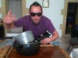 Mac Gyver djembé live percussions sur des casserolles Sankaman27
