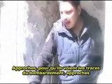Le régime syrien élimine  les journalistes trop gênants-Homs Syrie-22/2/12- sous-titres français
