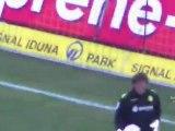 21.Spieltag BVB - Leverkusen Vor dem Spiel - Mannschaft macht sich warm.