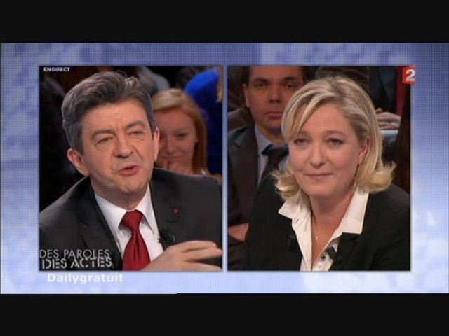 Clash LePen Mélenchon (des paroles et des actes)