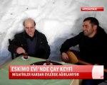 ARDAHAN ÇILDIR  gölü haberleri Eskimo evinde çay keyfi @ MEHMET ALİ ARSLAN Haber