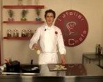 Recette de charlotte d'aubergine et crumble au vieux parmesan