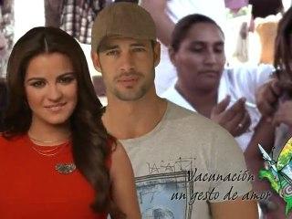 Maite Perroni y William Levy Vacunacion Un Gesto de Amor || SVA 2012