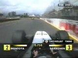 Australia 2002 Kimi Räikkönen chasing Juan Pablo Montoya