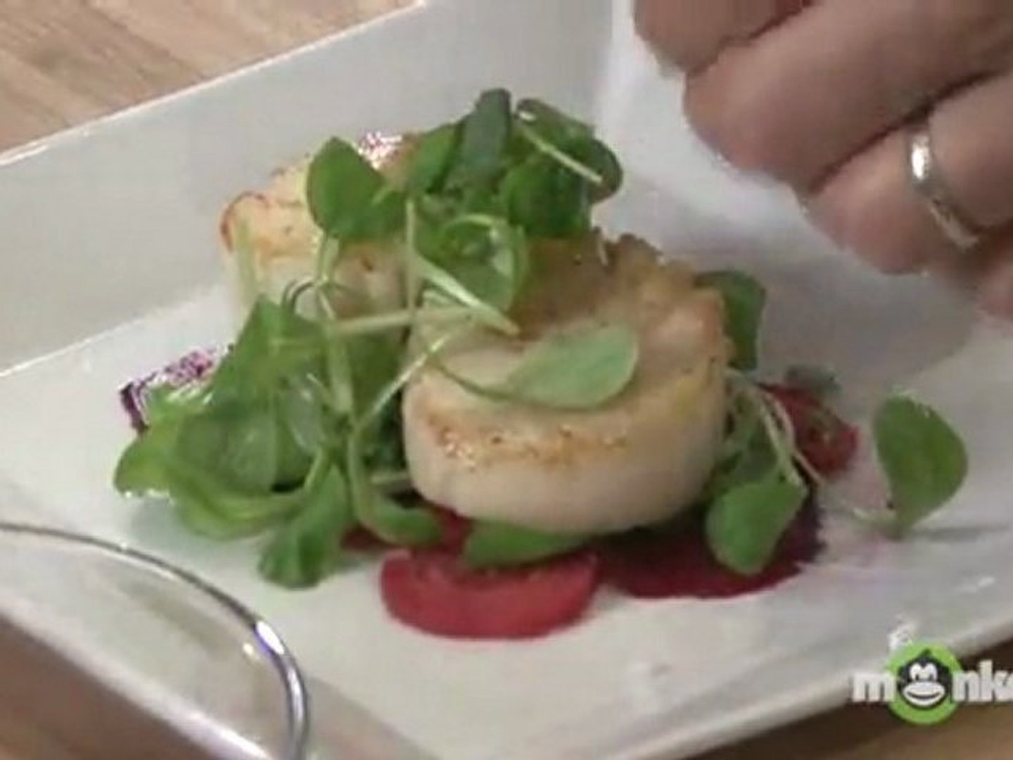 Seared Scallops with Roasted Beets & Garden Herb Salad