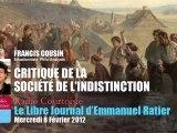 Francis Cousin: Critique de la société de l'indistinction