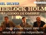 Robert Downey Jr. Guy Ritchie e Joel Silver alla presentazione di Sherlock Holmes: Gioco di Ombre