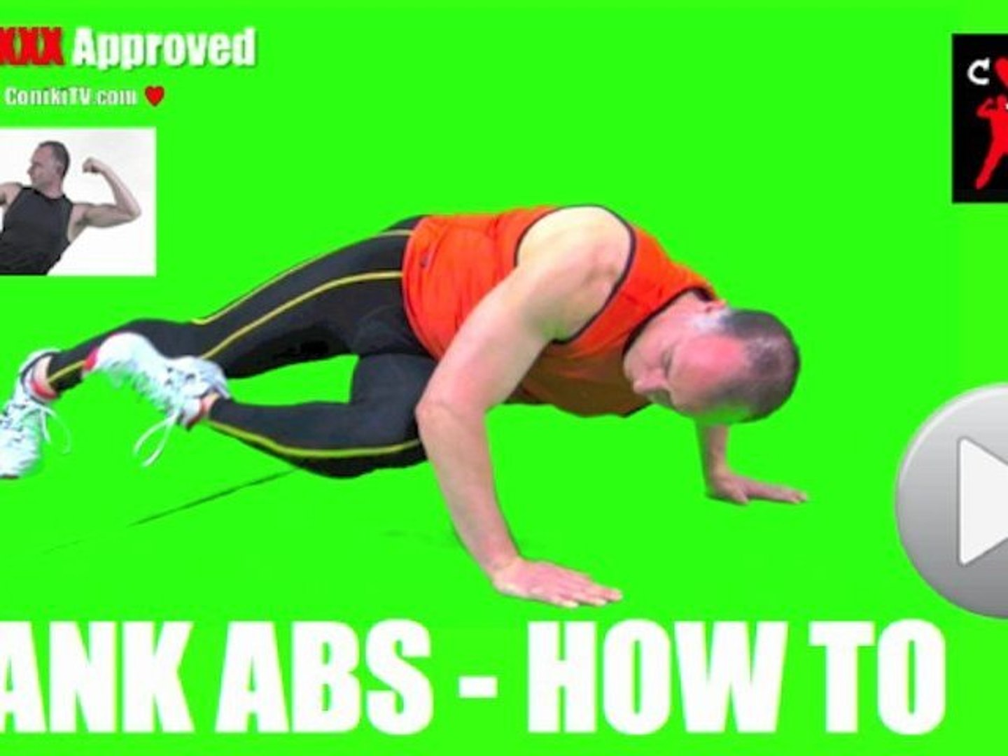 Body Weight How To Abs Plank Knee to Elbow ConikiXXX