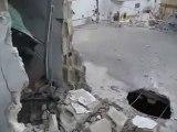 فري برس  حماه المحتلة قصف في مدينة حلفايا جراء القصف العشوائي  1 3 2012