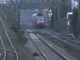 BR146 mit Dostos nach Koblenz und BR101 mit schweizer Personenwagen nach Köln Bonn
