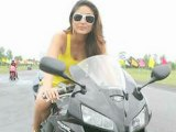 Bollywood Hotties Daredevilry On Bike - Bollywood Babes