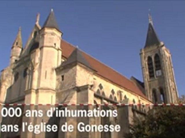 1000 ans d'inhumations dans l'église de Gonesse
