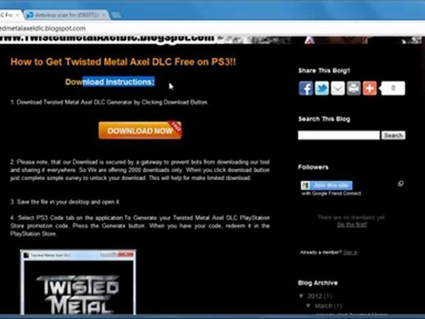 video3Twisted Metal Online Axel Free Giveaway