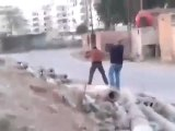 فري برس  ريف دمشق عملية جيش سوريا الحر و قتل شبيحة  في داريا ريف دمشق