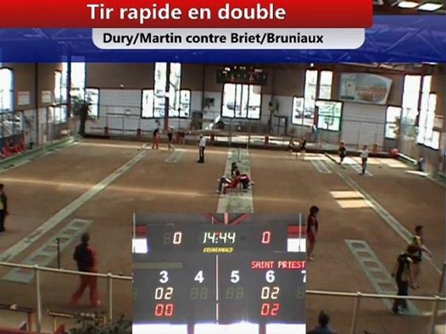Tir rapide en double, J12 CS EF Saint-Priest contre Nyons