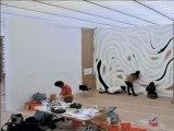 Timelapse - Wall Drawings #879 Loopy Doopy - Exposition Sol LeWitt - Dessins muraux de 1968 à 2007