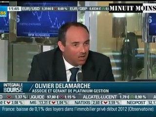 Olivier Delamarche - Bernanke et Draghi sont à mettre en prison  - 06/03/2012 - BFM Business