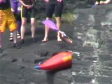 extreme kayak seal launch kayak broken nose and high jumping