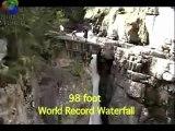 Extreme kayaking waterfall drop world record. Extreme kayaking