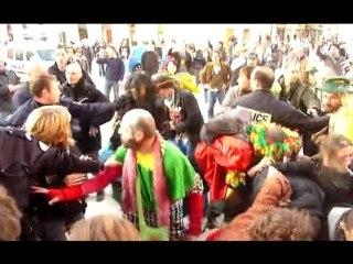 Carnaval Indépendant de Nice - nouvelles images des violences policières.